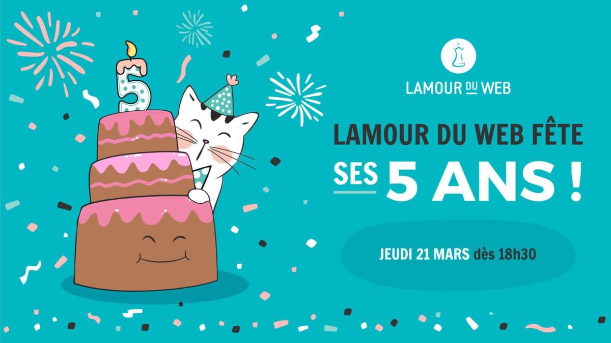 5 ans Lamour du Web