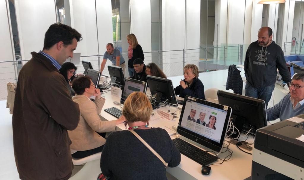 Formation et test utilisateur avec Lamour du Web pour la refonte du site web de la mairie de Pontivy