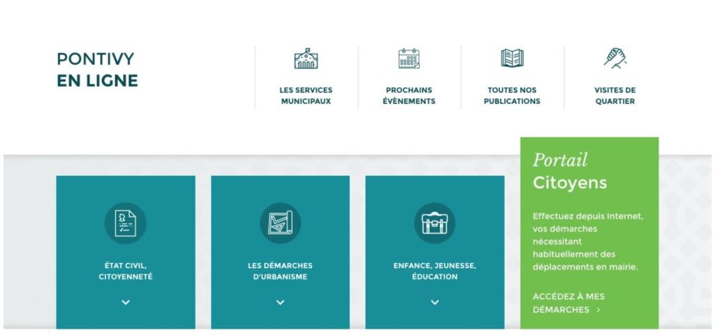 Site internet et portail citoyens de la mairie de Pontivy