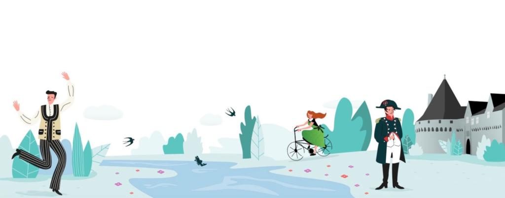 Illustration graphique pour le site internet de la mairie de Pontivy par Lamour du Web